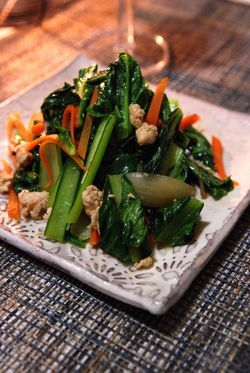 タイ風青菜の炒め物