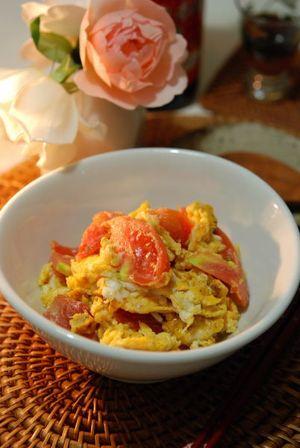 トマト卵炒め