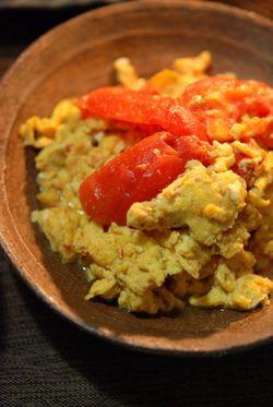 トマト卵炒め (2)