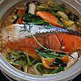 鮭の土鍋でちゃんちゃん焼き風