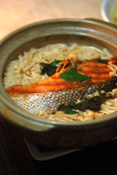 鮭と山椒の炊き込みご飯 (2)