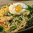 明太子と小松菜のパスタ