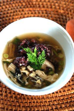 黒米のスープがけ