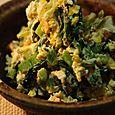 大根の葉とツナとちくわの炒め物
