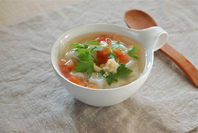夏のスープ餃子