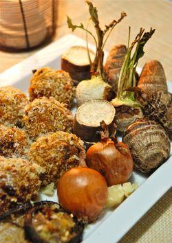 ライスコロッケと焼き野菜1