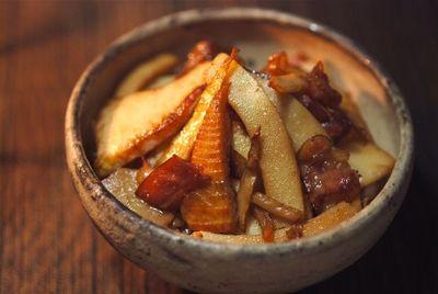 筍とベーコンの炒め物