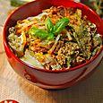 天ぷらの卵とじ丼