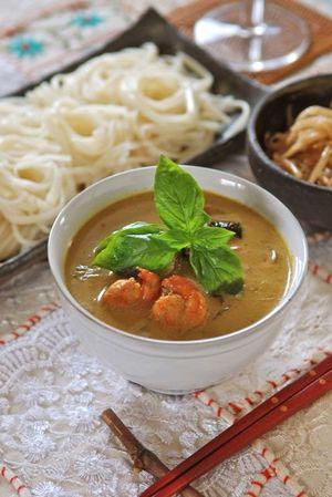 タイカレーで麺