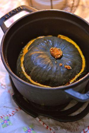 坊っちゃんかぼちゃの根菜詰め