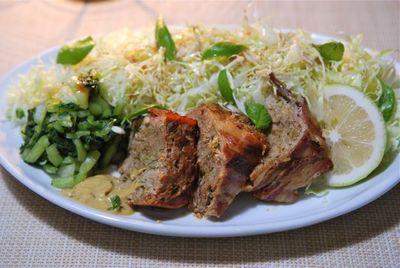 野菜たっぷりのミートローフ-3