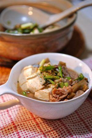 ズイキと豆腐の煮物