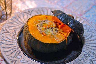 坊っちゃんかぼちゃの根菜詰め-3
