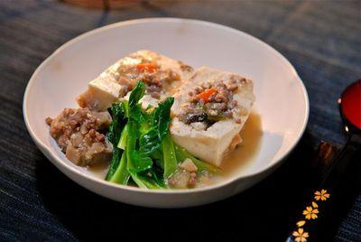 豆腐のそぼろ詰め