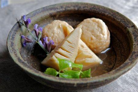 筍とおとうふ揚げの煮物