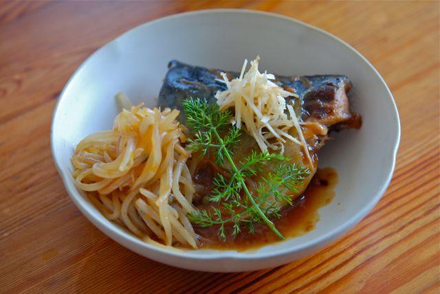 鯖の味噌荷
