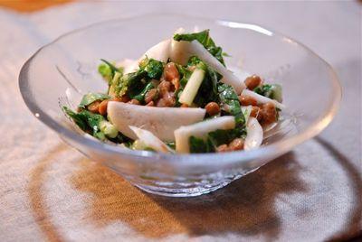亀戸大根と納豆のサラダ