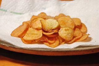 オーブンでポテトチップス 190度15分