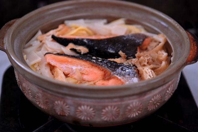 紅鮭の炊き込みご飯