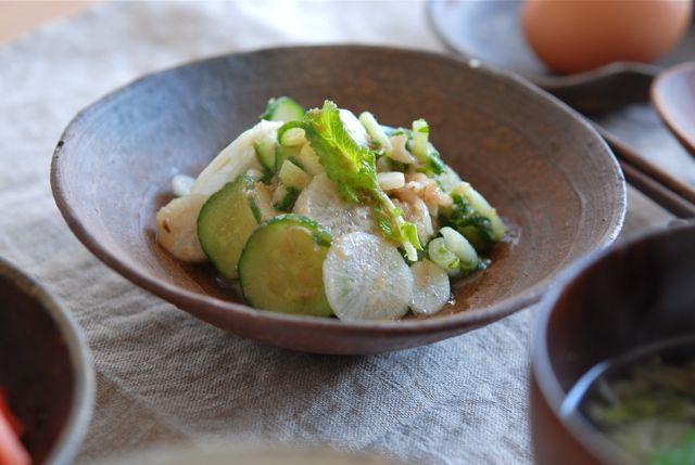 亀戸大根の梅酢サラダ