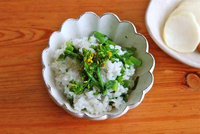菜の花ご飯-2