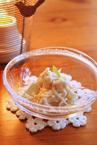 カリフラワーと大根のツナサラダ 柚子風味