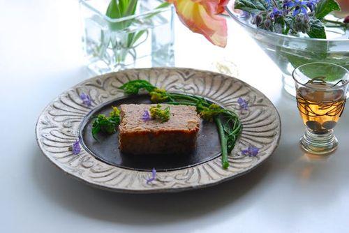 白菜のミートローフと銀梅花酒