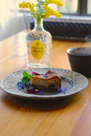 チョコレートとブルーベリーのチーズケーキ