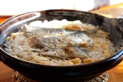 サンマの炊き込みご飯
