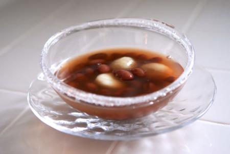 金時豆と白玉