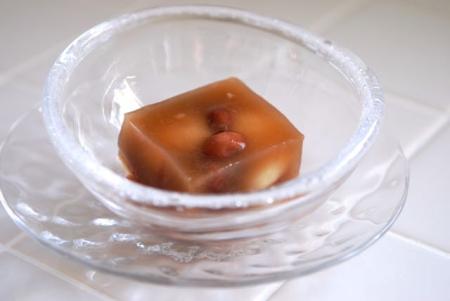金時豆と白玉の寒天