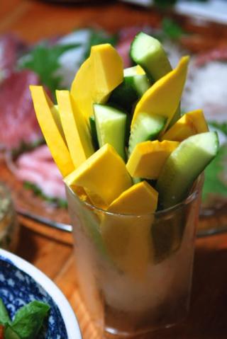 コリンキーとキュウリの野菜スティック