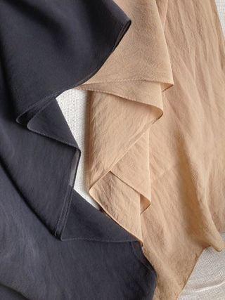 ゴールドクレストで染めたスカーフ