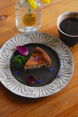 チョコレートとブルーベリーのチーズケーキ-2