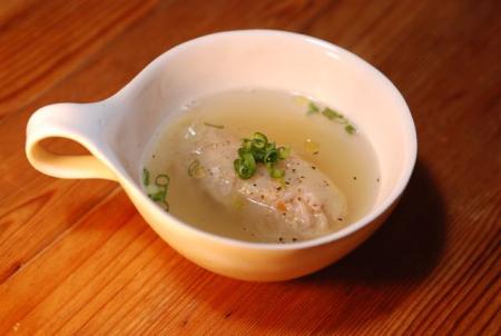 小さなロールキャベツのスープ