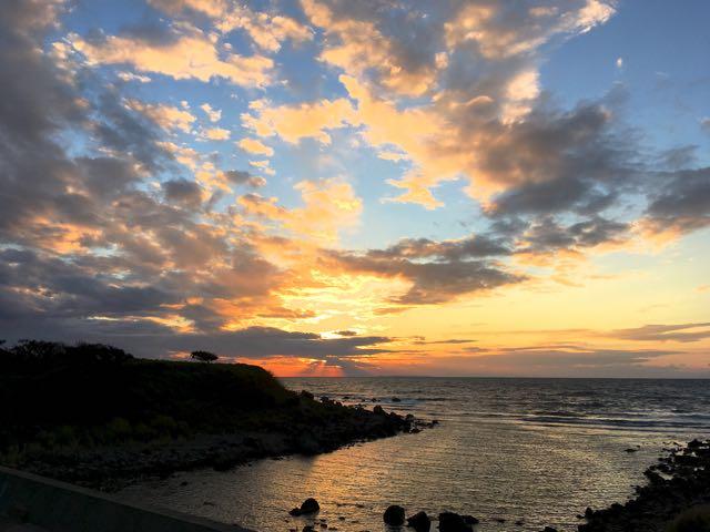 日本海の夕日