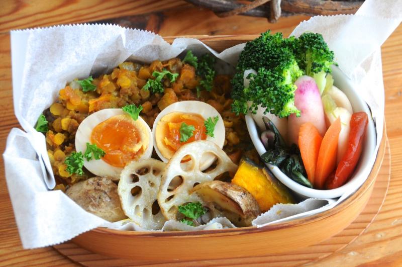 レンズ豆のカレーのお弁当