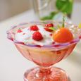 草莓と金柑のヨーグルト