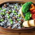 ひじきと枝豆ご飯のお弁当