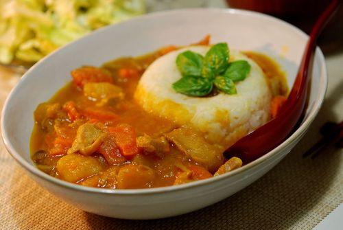 豚肉と野菜のケチャップ煮