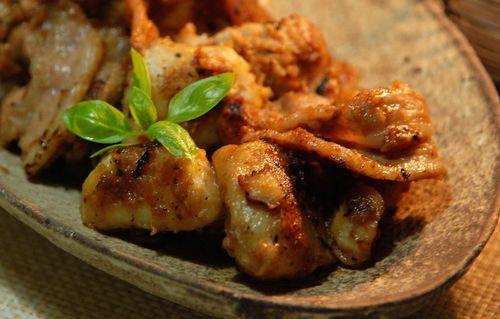 里芋と豚肉の炒め物