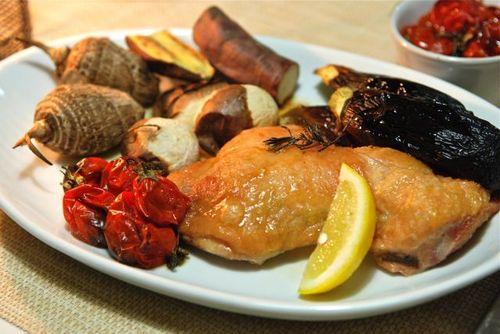 鶏と野菜のオーブン焼き1